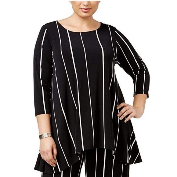 679e97a0d31 Alfani Tops   Womens Plus Highlow Striped Tunic Top 1x   Poshmark